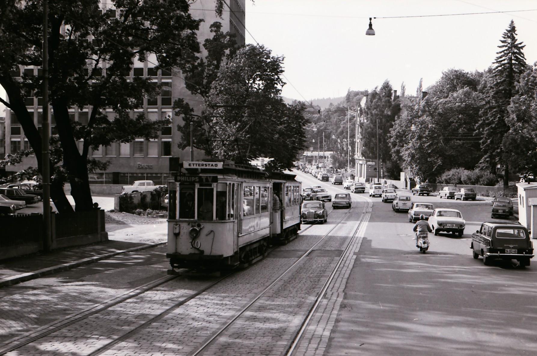 SS 70 linje 3x Drammensveien H.Svartes gate 1968.06.21 OM